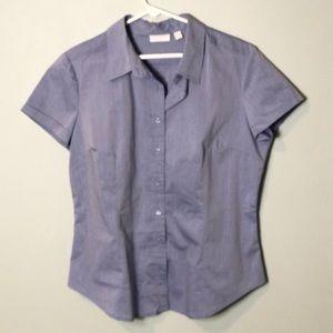 New York & Company button down shirt Nwot blue